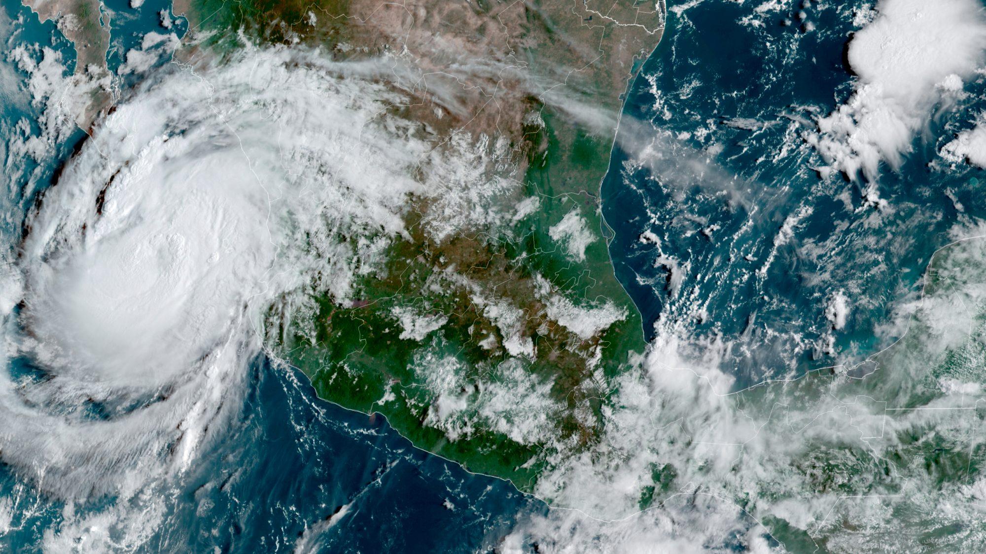 Hurricane Olaf Makes Landfall in Mexico