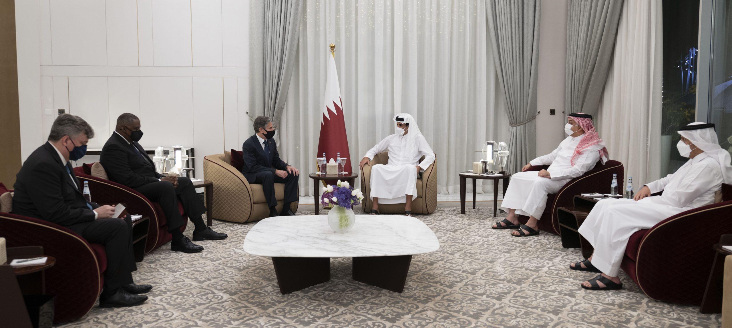 Amir Meets US State and Defense Secretaries