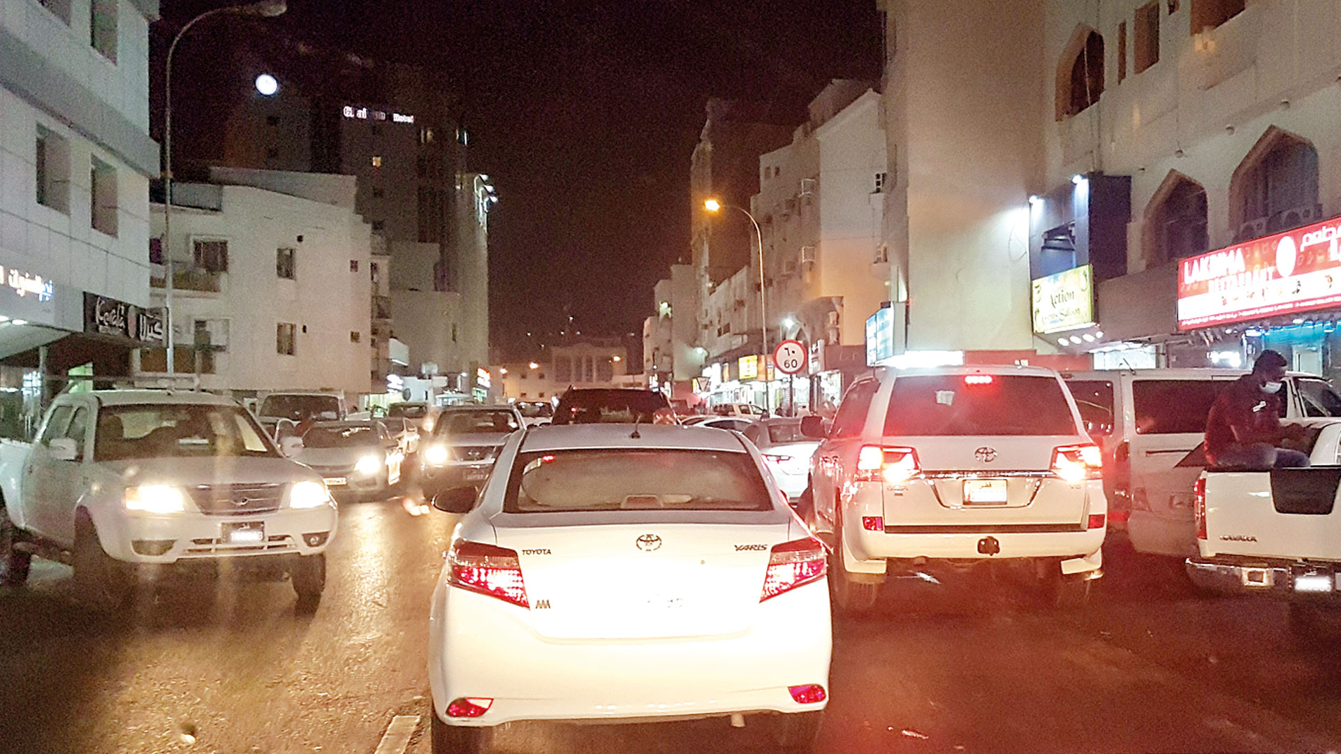 Daily traffic congestion on Najma Street due to hot drinks shops
