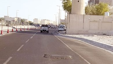Stuck-out drainage covers annoy al-Wakra Street users