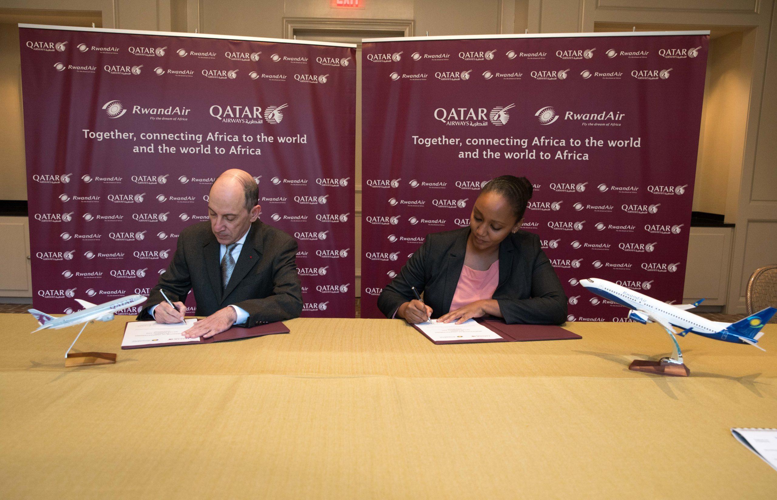QA and RwandAir Seal Milestone Codeshare Agreement