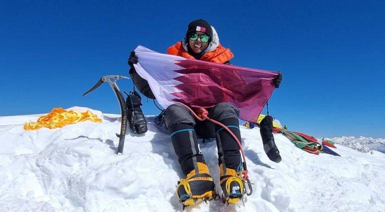 Right after summiting Mount Manaslu, Qatari mountaineer conquers Dhaulagiri