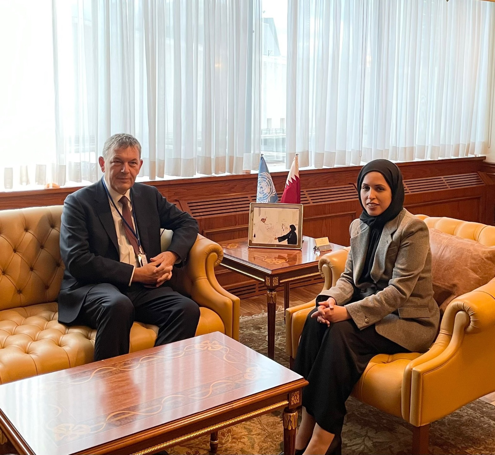 Sheikha Alya Al-Thani Holds Several Meetings with Senior UN Officials