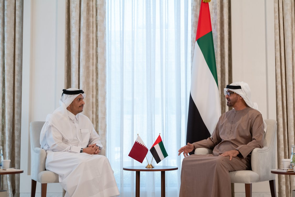 Crown Prince of Abu Dhabi Meets the Deputy Prime Minister and Minister of Foreign Affairs