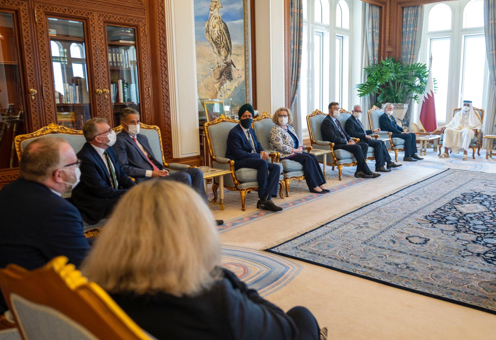 Amir Meets British Parliament Delegation