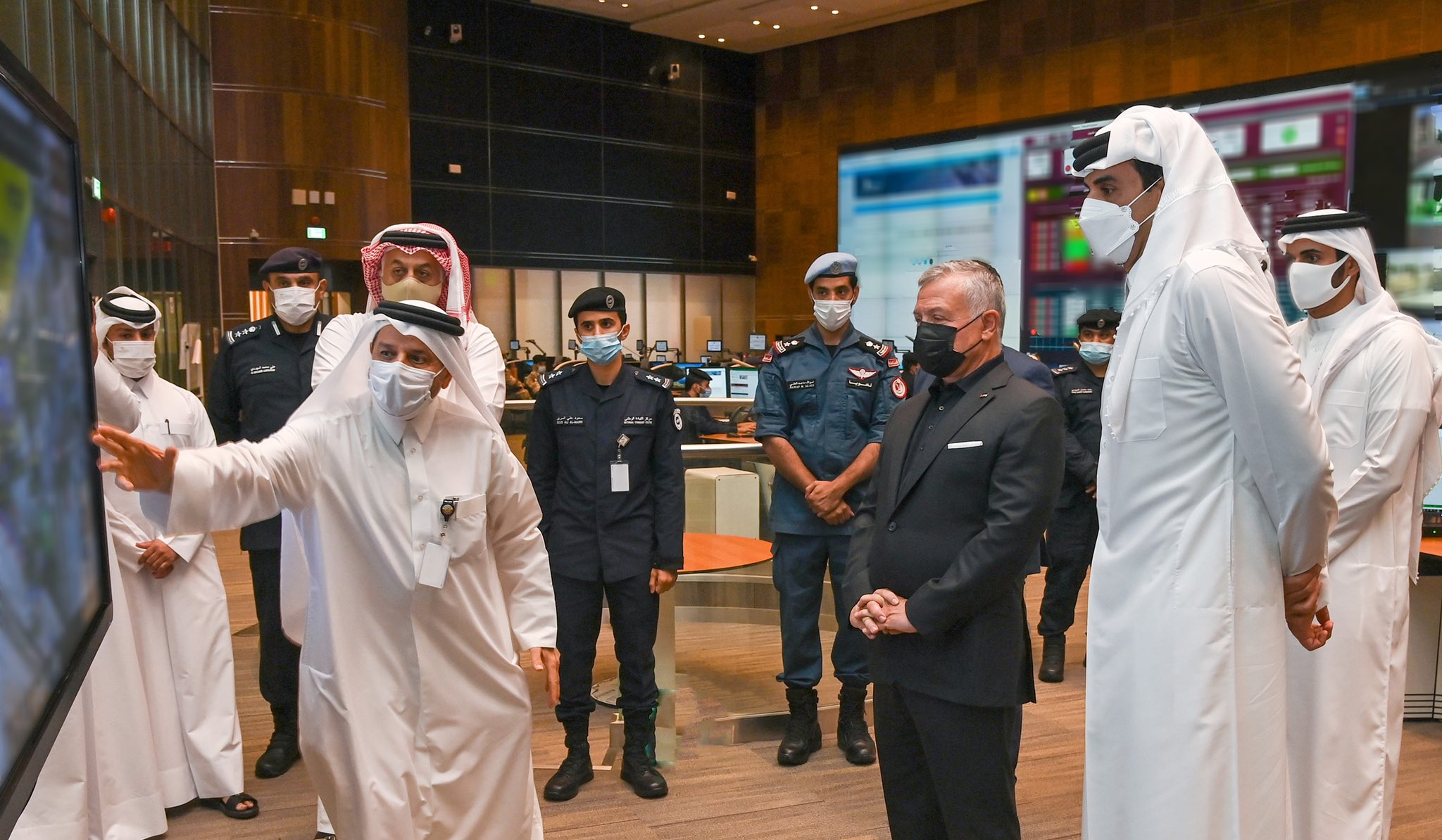 HH the Amir and HM King of Jordan Visit National Command Center