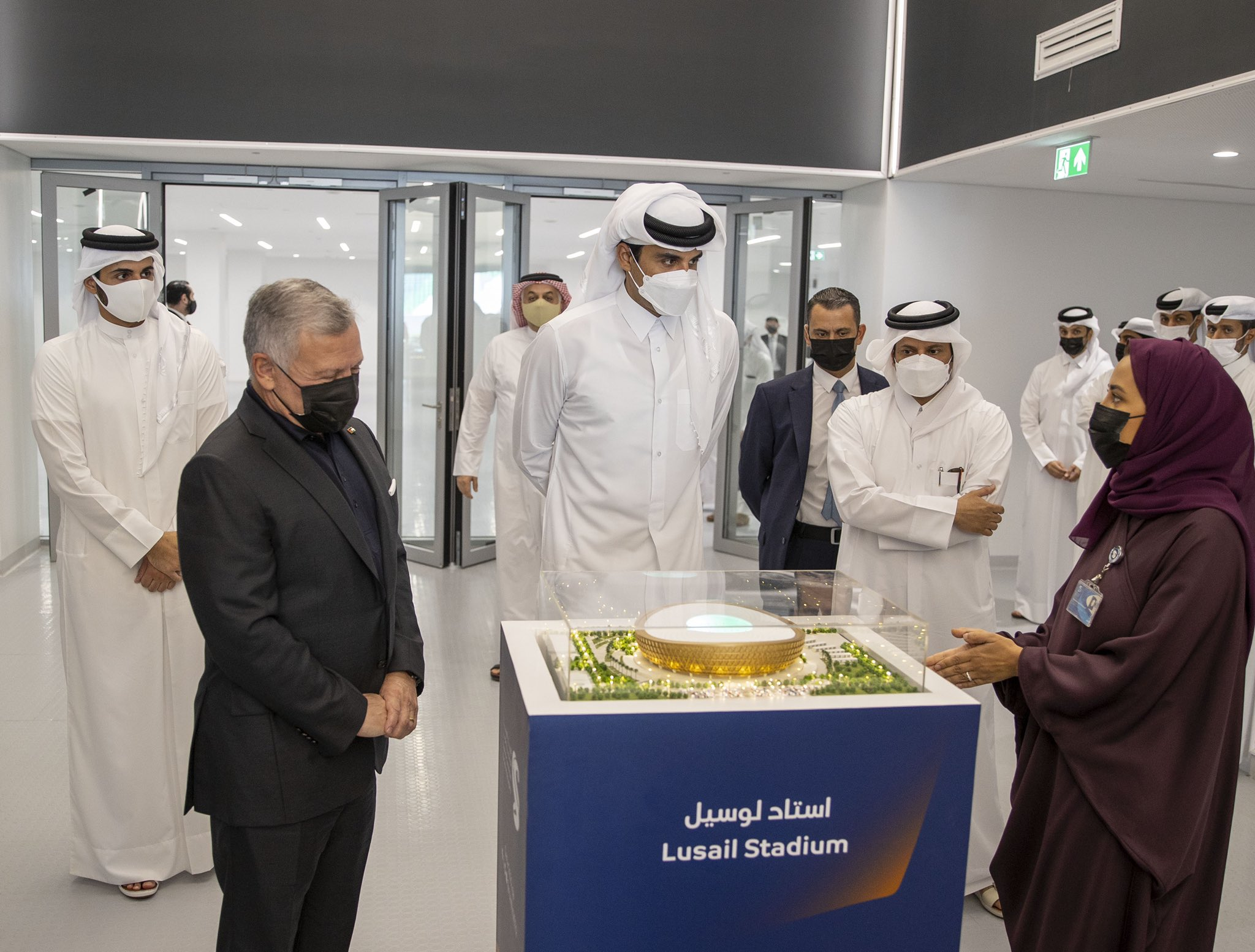 HH the Amir and HM the King of Jordan Visit the Education City Stadium