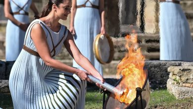 Beijing 2022 Olympic Flame Lit in Ancient Olympia