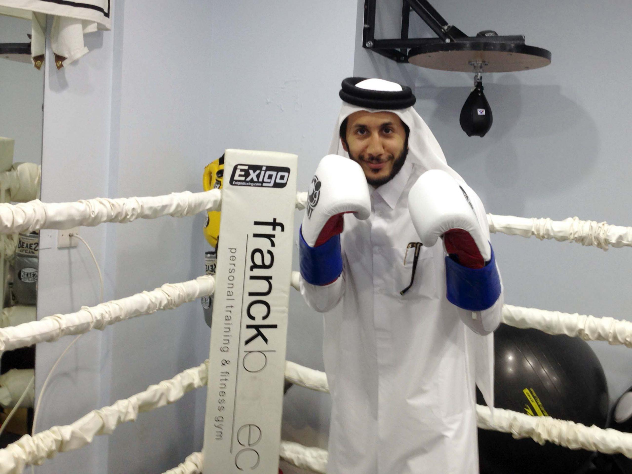 "Qatar's pro boxer Sheikh Fahad named ""Save the Dream"" Ambassador"