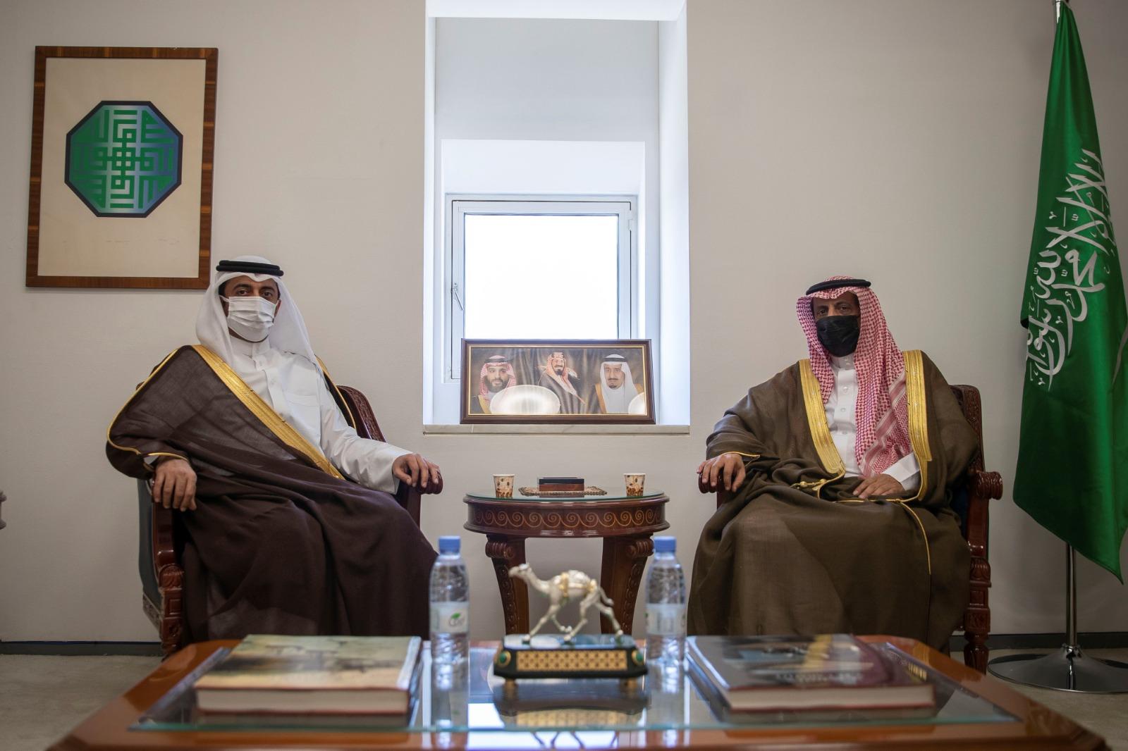 Saudi Foreign Ministry Undersecretary Meets Qatari Ambassador